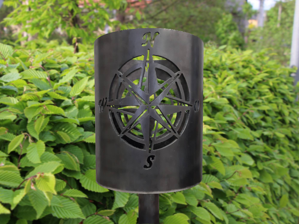Bild Gartenfackel Windrose