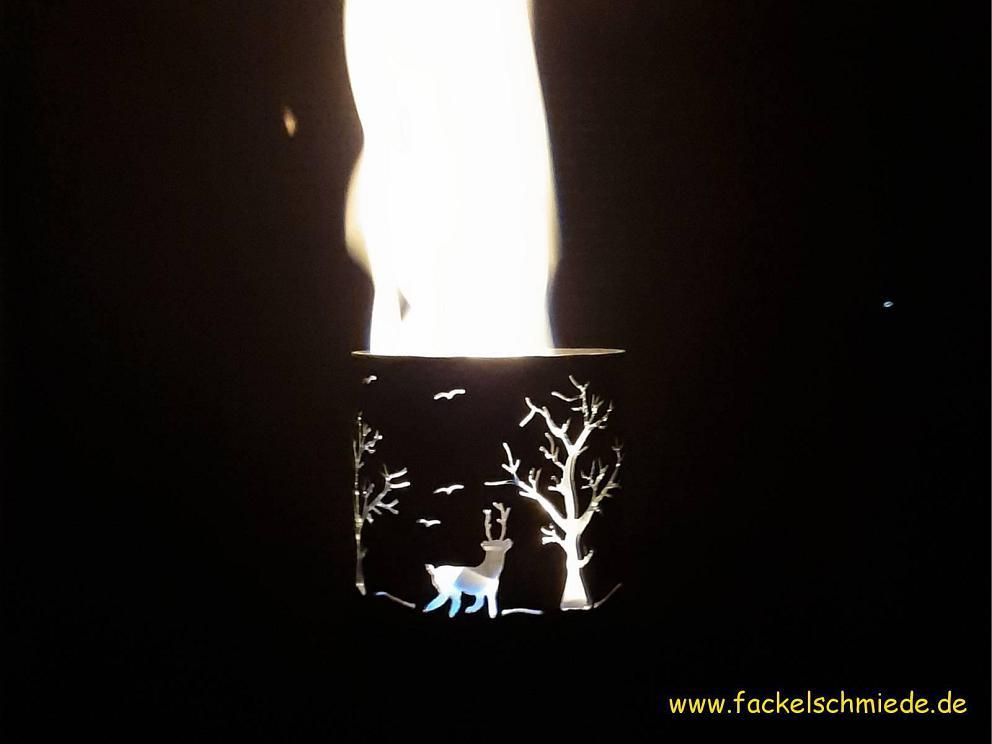 Bild Gartenfackel Waldlichtung