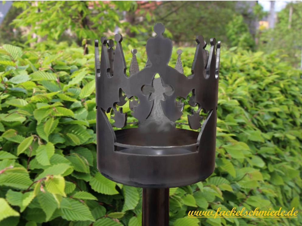 Bild Gartenfackel Krone