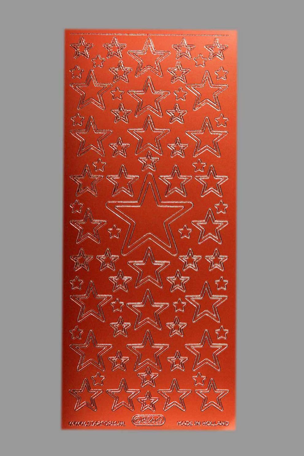 Bild Aufkleber Sterne rot Starform 856