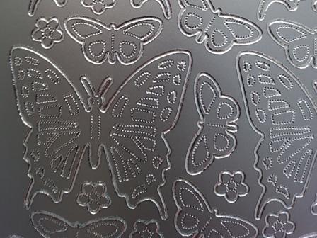 Bild Sticker Schmetterlinge silber Starform 0124