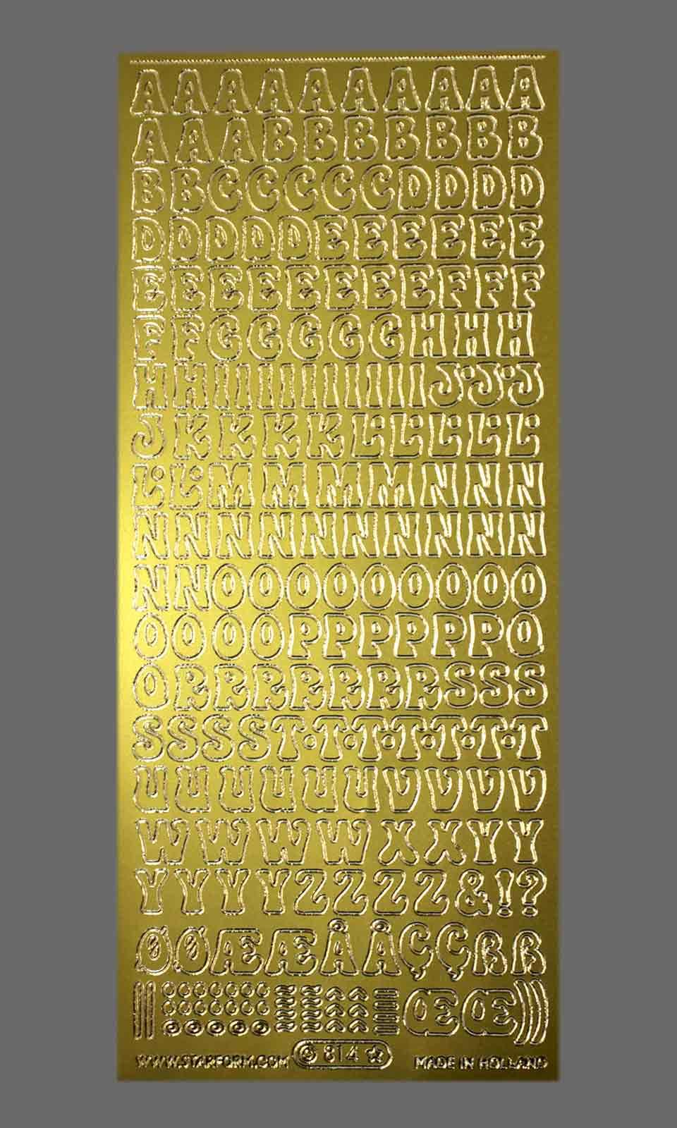 Bild Sticker Großbuchstaben gold Starform 814