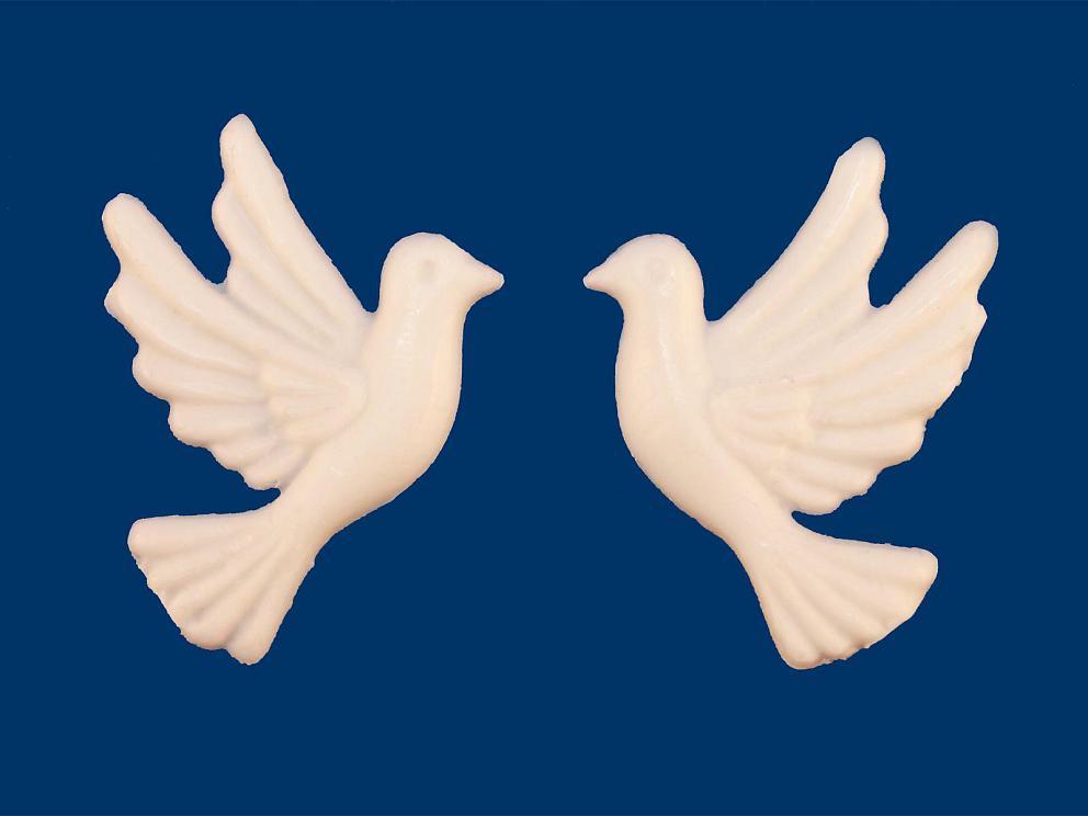 Bild Wachsdekor Taubenpaar 37 x 20 mm