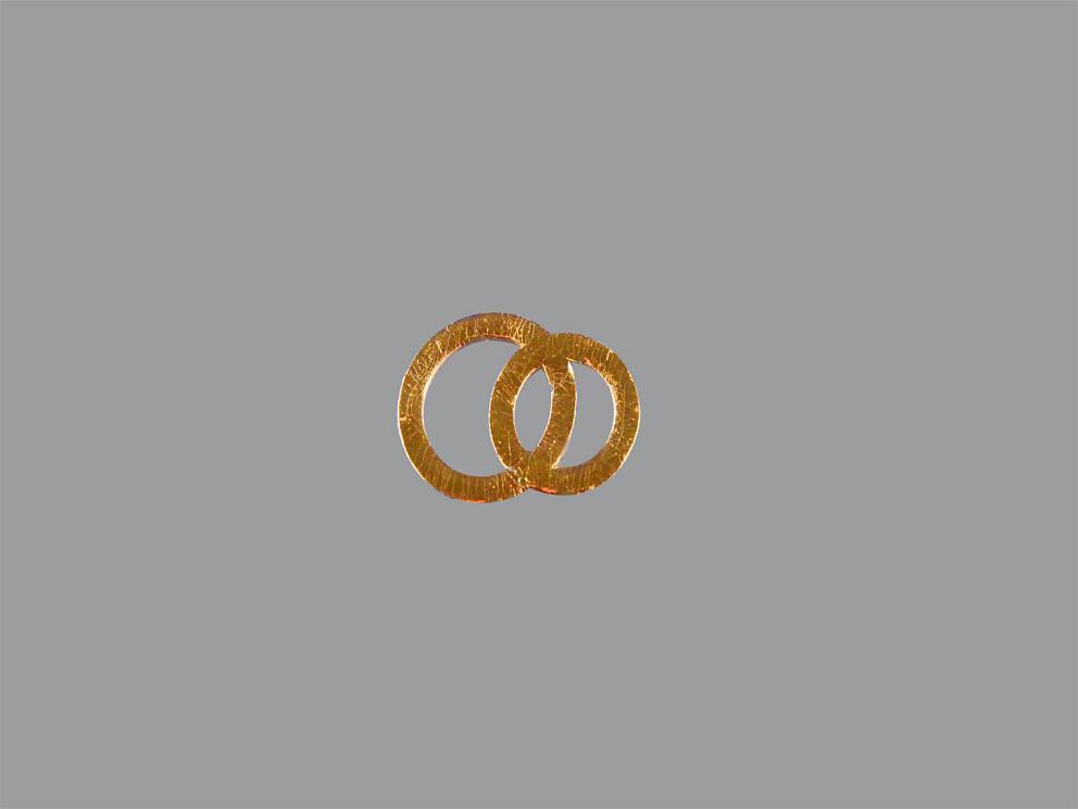 Bild Wachsdekor Eheringe 17 x 12 mm Gold glänzend