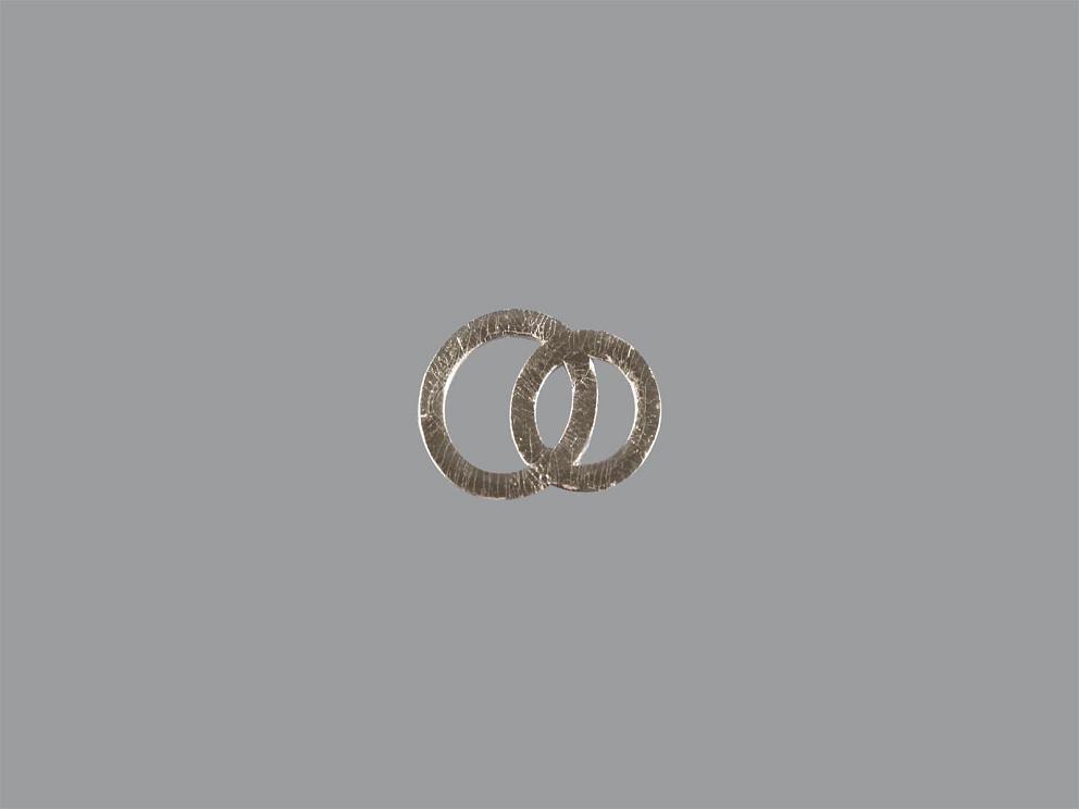 Bild Wachsdekor Eheringe 17 x 12 mm silbern glänzend
