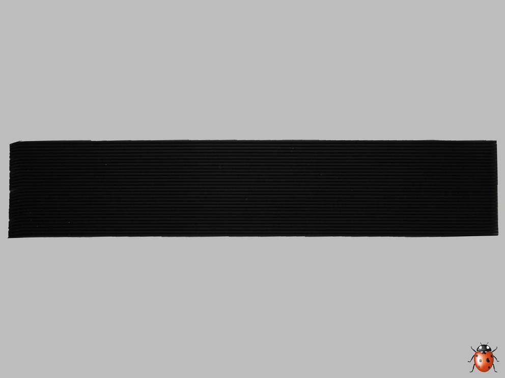 Bild Wachszierstreifen 1 mm x 200 mm 30 Stk schwarz