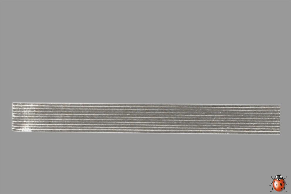 Bild Wachszierstreifen 3 mm x 200 mm flach silber glänzend 12 Stk