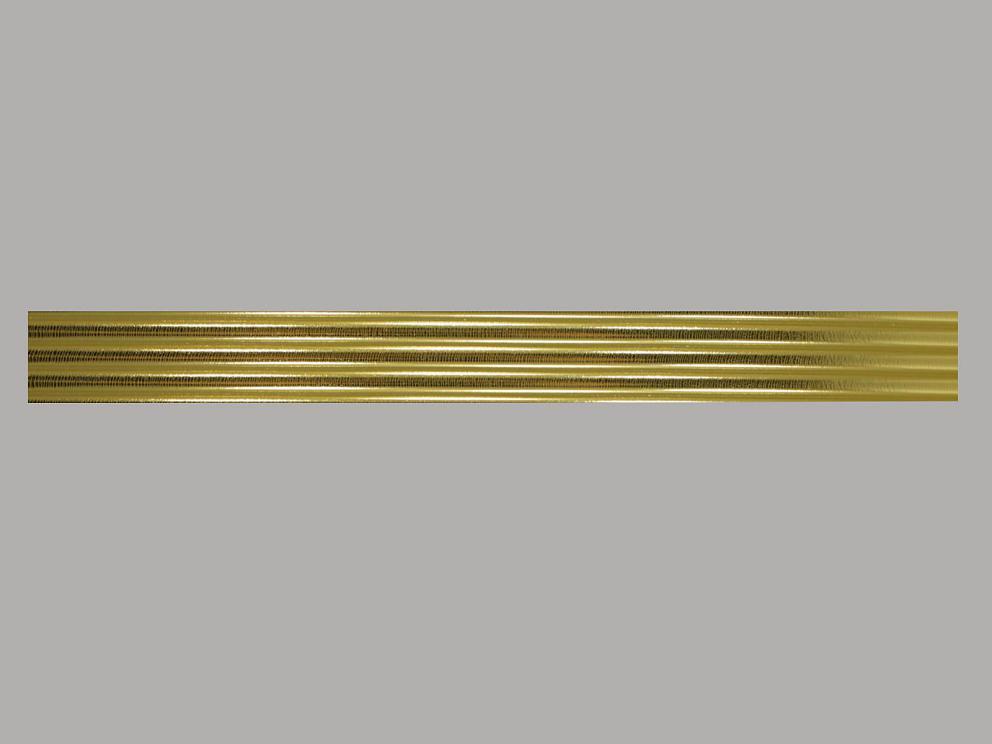 Bild Wachszierstreifen 7 mm x 200 mm rund gold glänzend 4 Stk