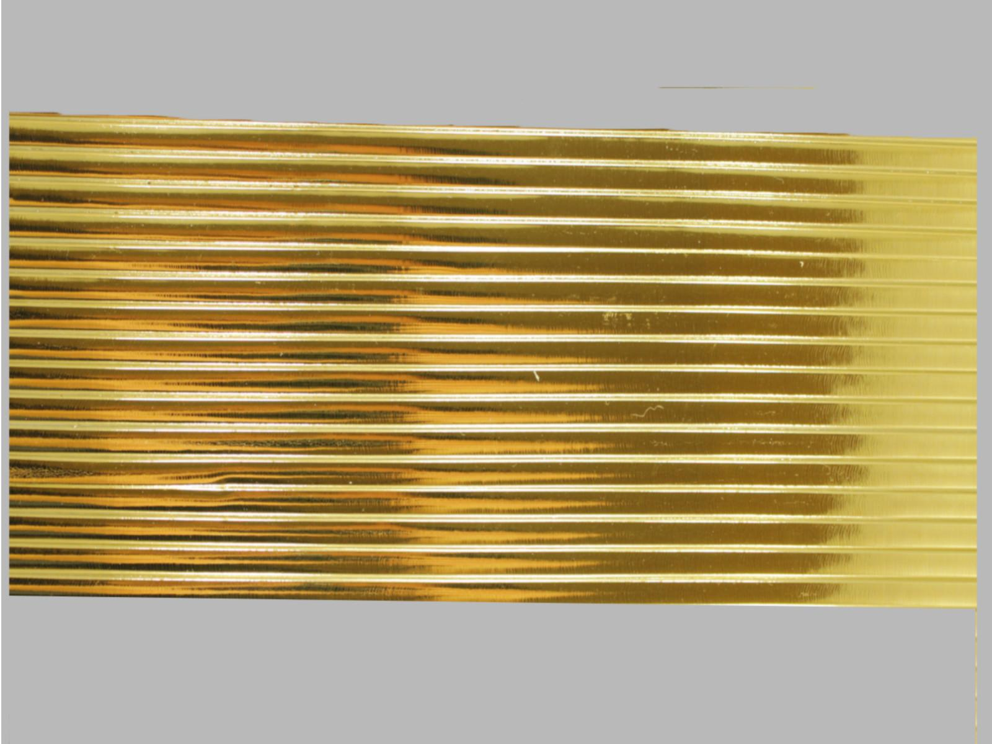 Bild Wachszierstreifen 7 mm x 200 mm flach gold glänzend 16 Stk