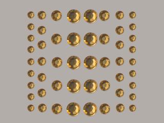 Bild Strasssteine rund helltopaz 4, 5, 6, 8 mm 54 Stk selbstklebend