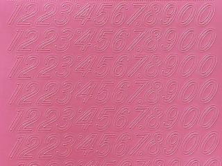 Bild Zahlensticker rosa Starform 1032