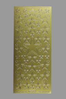 Bild Aufkleber Sterne gold Starform 856