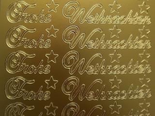 Bild Sticker Frohe Weihnachten gold Starform 451