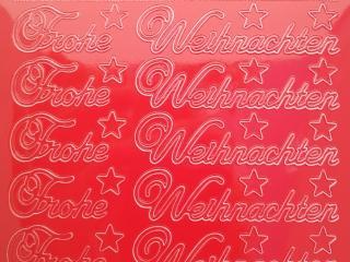 Bild Sticker Frohe Weihnachten rot Starform 451