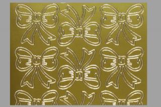 Bild Aufkleber Schleifen gold Starform 820
