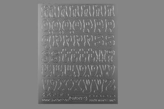 Bild Sticker Kleinbuchstaben 14- 18 mm silber Starform 7049