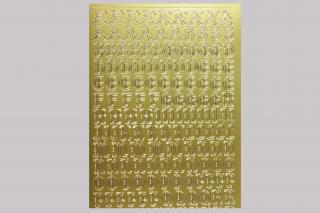 Bild Sticker Großbuchstaben gotisch Starform Nr. 1155 gold