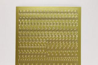 Bild Sticker Kleinbuchstaben gotisch Starform Nr. 1156 gold