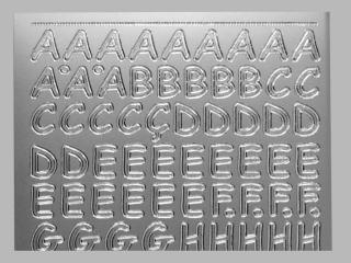 Bild Sticker Großbuchstaben Starform Nr. 1284 silber