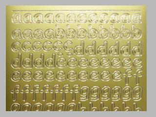 Bild Sticker Kleinbuchstaben gold Starform Nr. 1285