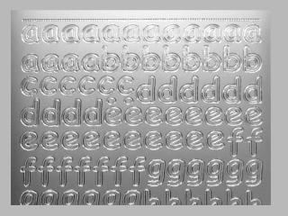 Bild Sticker Kleinbuchstaben Starform Nr. 1285 silber