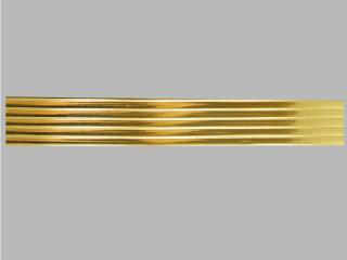 Bild Wachszierstreifen 5 mm x 200 mm flach gold glänzend 5 Stk