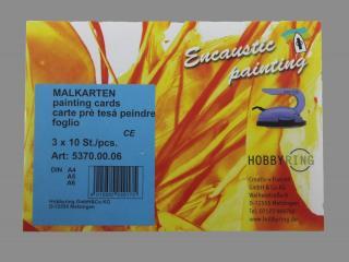Bild Encaustic Malkarten- Sortiment A6-A4 je 10 Stk