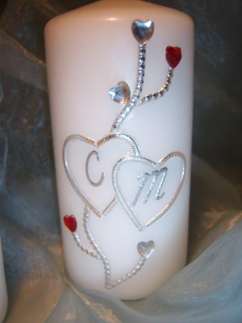 Bild Hochzeitskerzen-Set Elegant