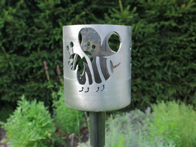 Bild Gartenfackel Motiv Biene