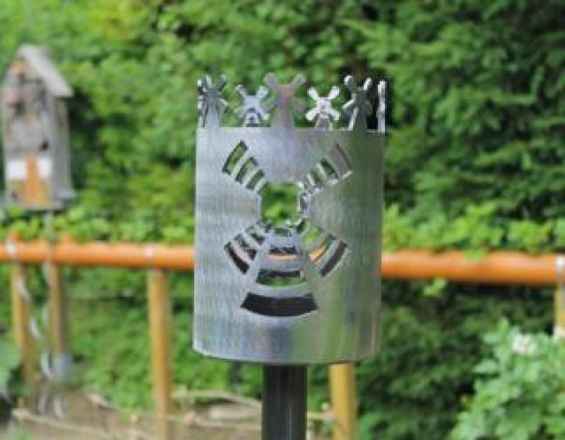 Bild Gartenfackel Windmühle