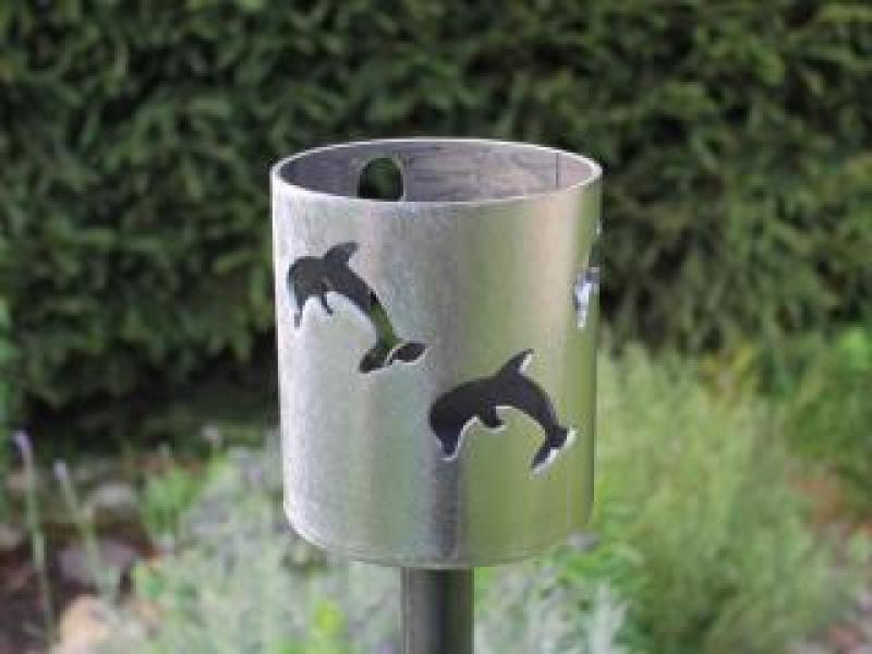 Bild Gartenfackel Delfine und Anker