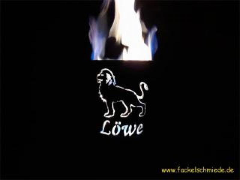 Bild Gartenfackel Sternzeichen Löwe