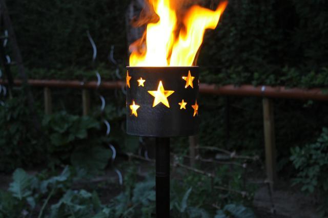 Bild Gartenfackel Sterne 159 x 155