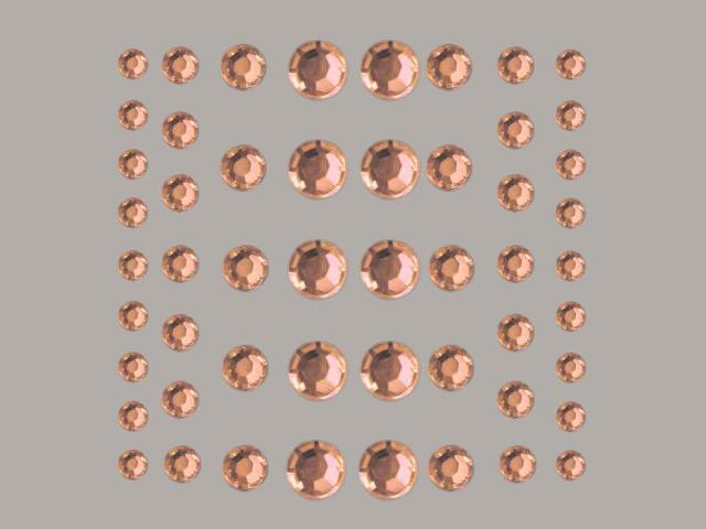 Bild Strasssteine rund hellrosa 4, 5, 6, 8 mm 54 Stk selbstklebend