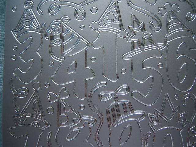 Bild Sticker Partyzahlen silber Starform 1203