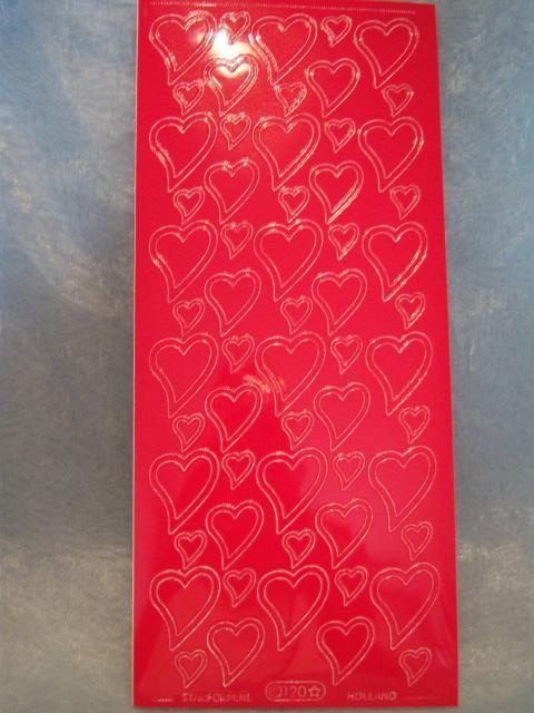 Bild Aufkleber Herzen mit Rand rot Starform 0120