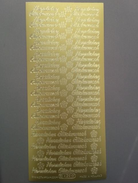 Bild Herzlichen Glückwunsch gold Starform 429
