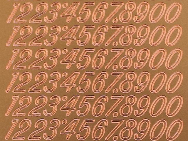 Bild Zahlensticker bronze Starform 1032