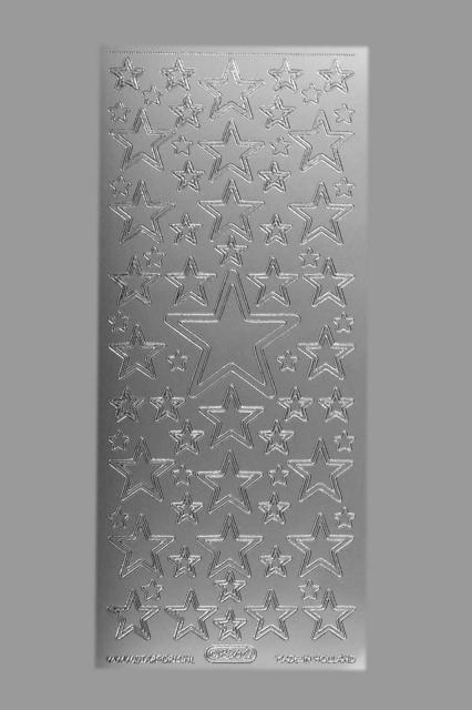 Bild Aufkleber Sterne silber Starform 856