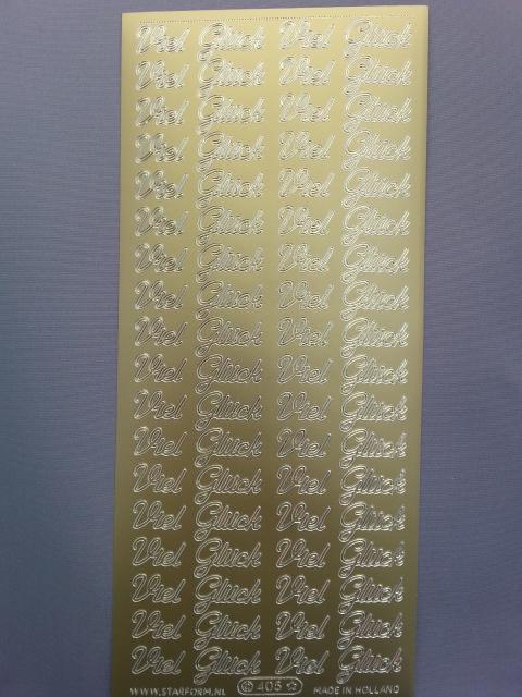 Bild Sticker Viel Glück gold Starform 405