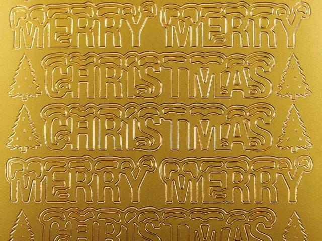 Bild Sticker Merry Christmas gold Starform 369