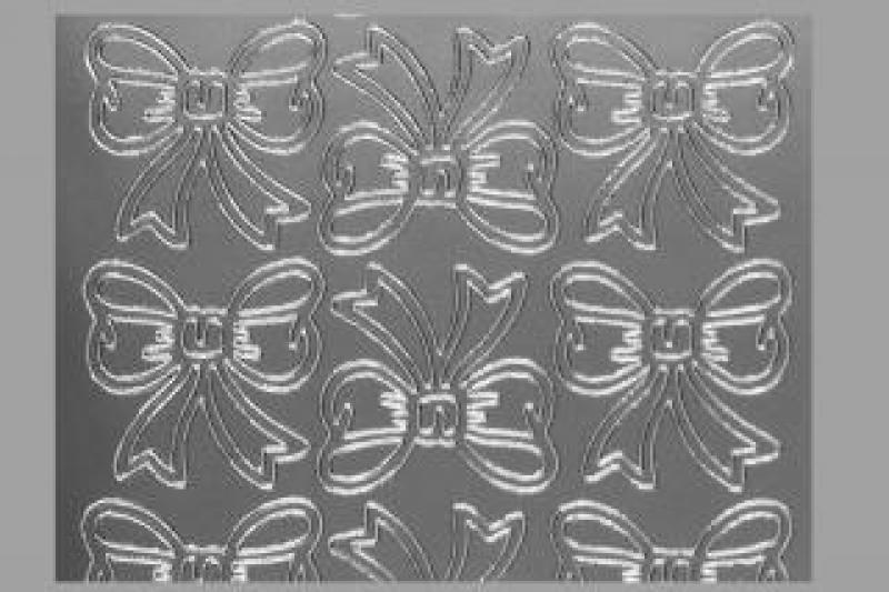 Bild Aufkleber Schleifen silber Starform 820