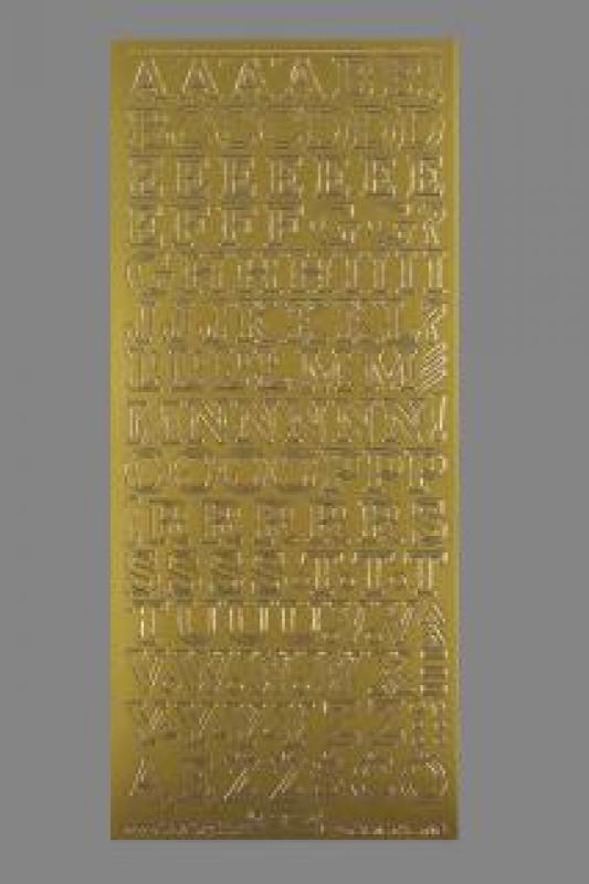 Bild Sticker Großbuchstaben 12mm gold Starform 131