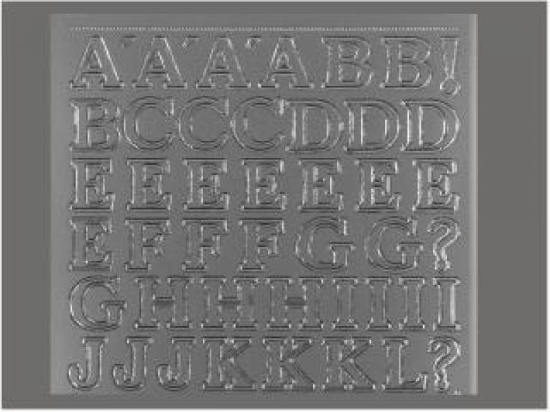Bild Sticker Großbuchstaben 12mm silber Starform 131