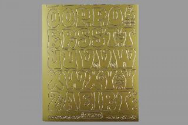 Bild Sticker Großbuchstaben 20 mm gold Starform 7043