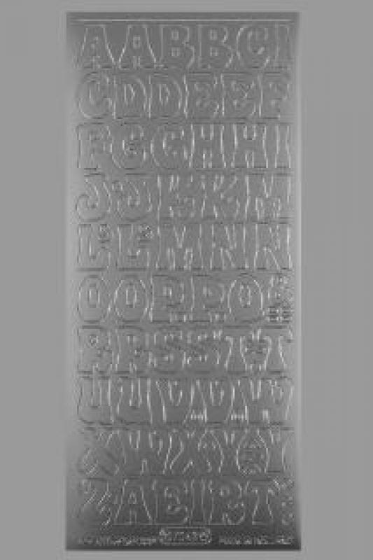 Bild Sticker Großbuchstaben 20 mm silber Starform 7043