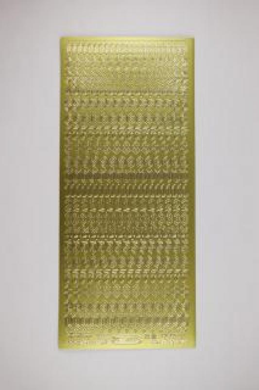 Bild Sticker Zahlen gold gotisch Starform Nr. 1157