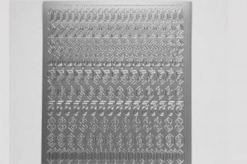 Bild Sticker Zahlen silber gotisch Starform Nr. 1157