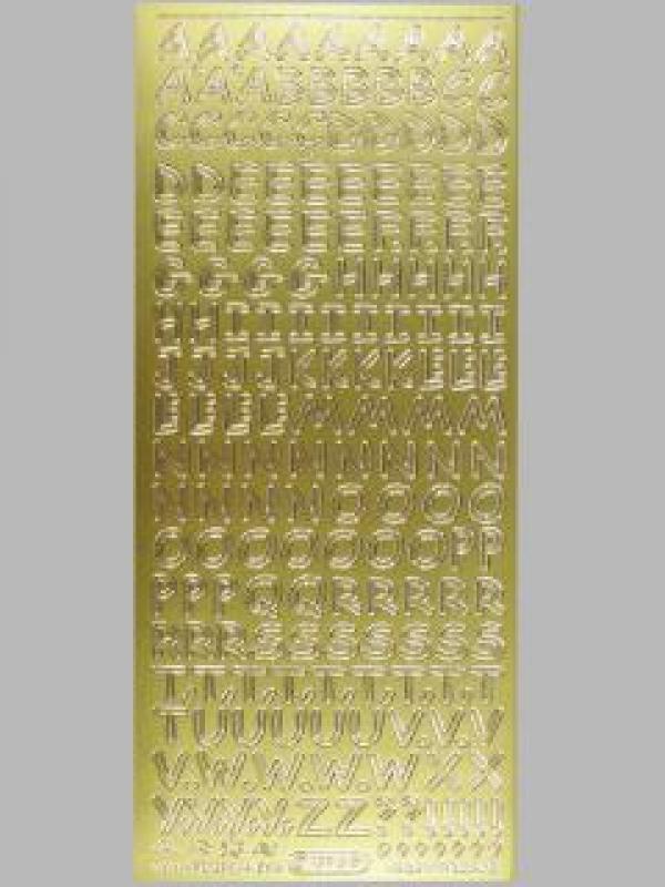 Bild Sticker Großbuchstaben gold Starform Nr. 1284