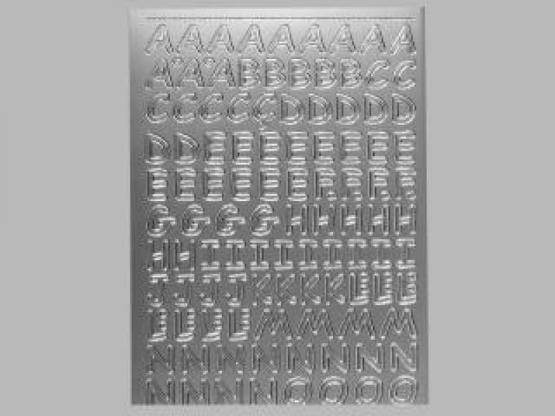 Bild Sticker Großbuchstaben silber Starform Nr. 1284
